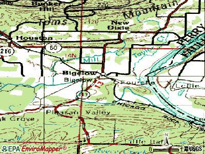 Bigelow topographic map