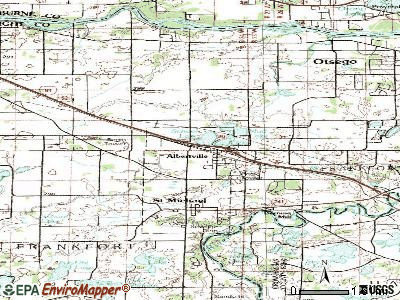 Albertville topographic map