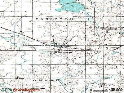 Alden topographic map