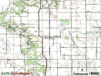 Amboy topographic map