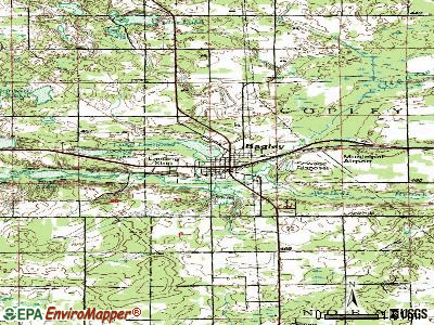 Bagley topographic map