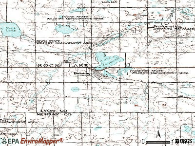 Balaton topographic map