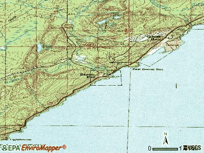 Beaver Bay topographic map
