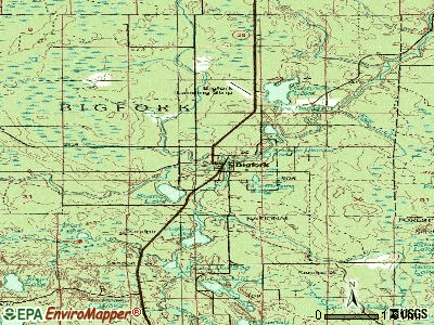 Bigfork topographic map