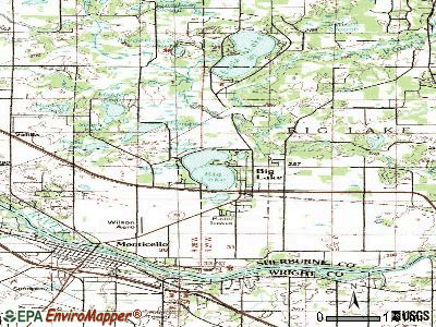 Big Lake topographic map