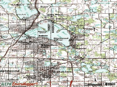 Birchwood Village topographic map