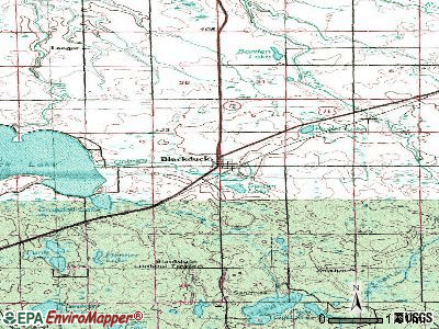 Blackduck topographic map
