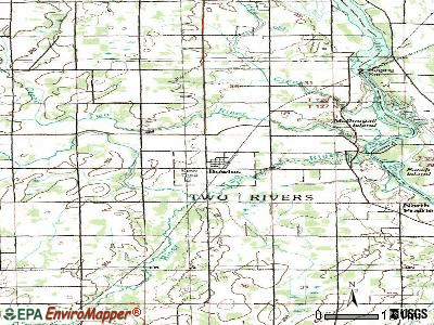 Bowlus topographic map