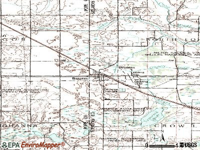 Brooten topographic map