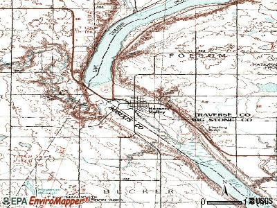 Browns Valley topographic map