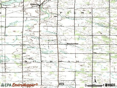 Buckman topographic map