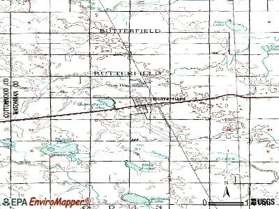 Butterfield topographic map