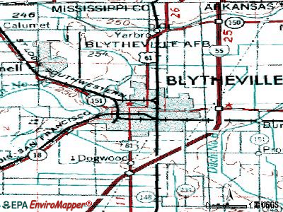 Blytheville topographic map