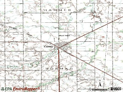 Canby topographic map