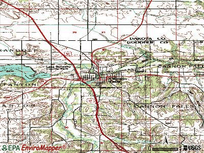 Cannon Falls topographic map