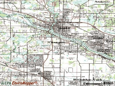 Champlin topographic map