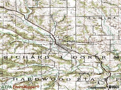Chatfield topographic map