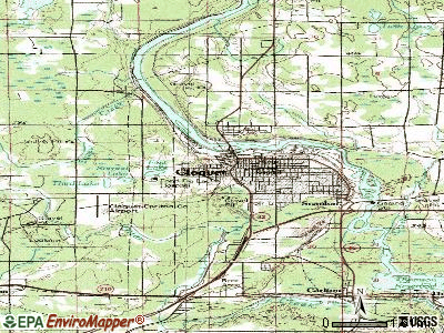 Cloquet topographic map