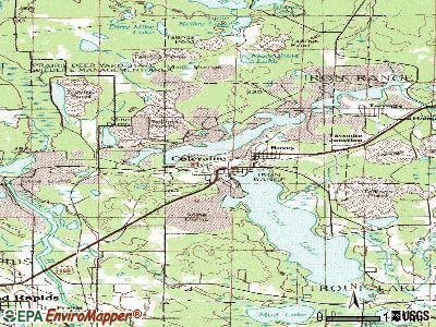 Coleraine topographic map