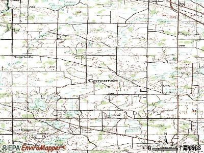 Corcoran topographic map