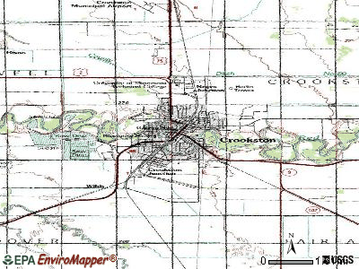 Crookston topographic map
