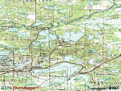 Cuyuna topographic map