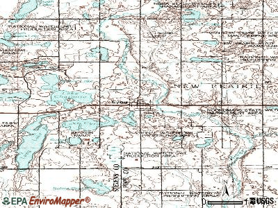 Cyrus topographic map
