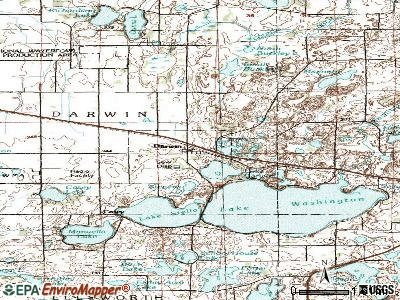 Darwin topographic map
