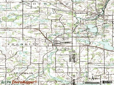 Delano topographic map