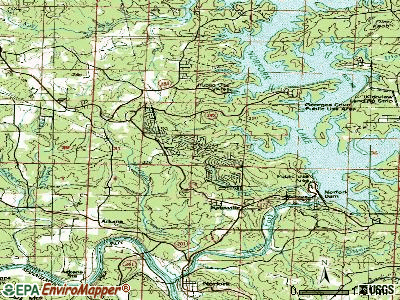 Briarcliff topographic map