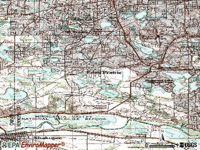 Eden Prairie topographic map