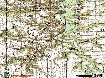 Elba topographic map