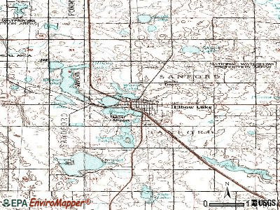 Elbow Lake topographic map