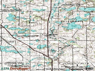 Elizabeth topographic map
