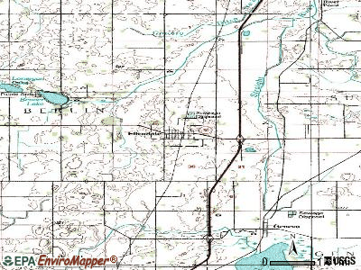 Ellendale topographic map