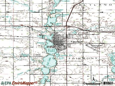 Eyota topographic map