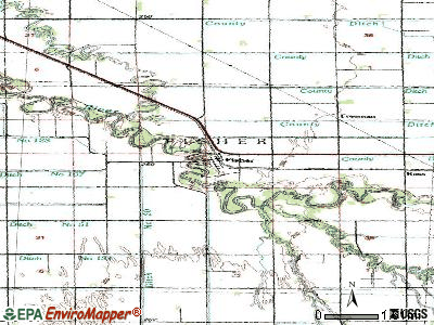 Fisher topographic map