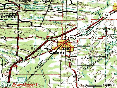 Cabot topographic map