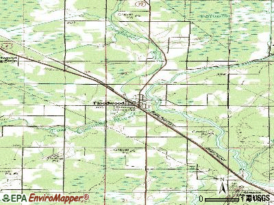 Floodwood topographic map