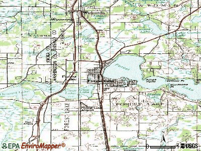 Forest Lake topographic map