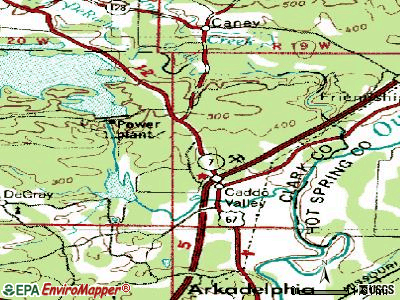 Caddo Valley topographic map