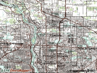 Fridley topographic map