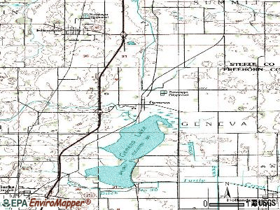 Geneva topographic map