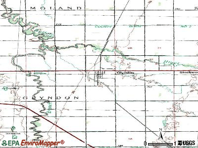 Glyndon topographic map