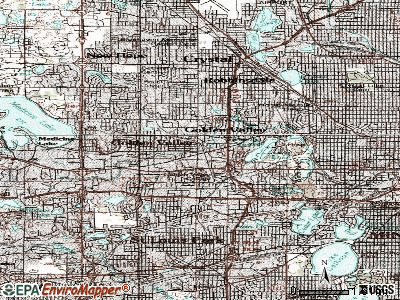 Golden Valley topographic map