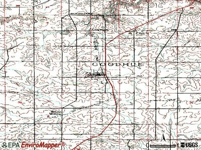 Goodhue topographic map