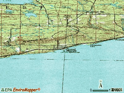Grand Marais topographic map