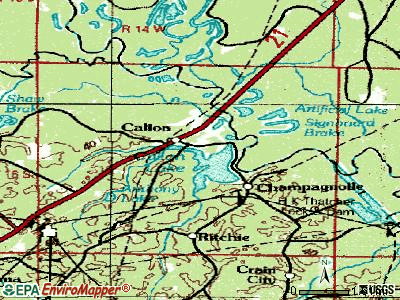 Calion topographic map
