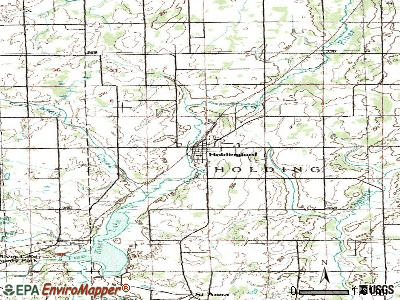 Holdingford topographic map