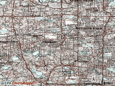 Hopkins topographic map